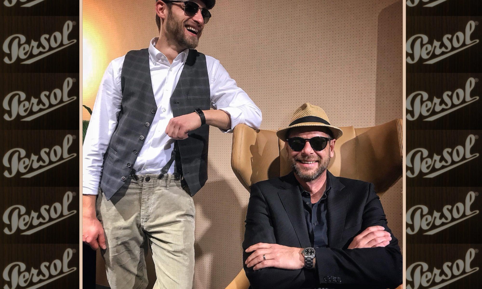 """Persol Sonnenbrille getragen und vertrieben von """"Optic by Morrison"""" Leipzig"""